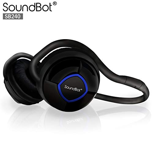 SoundBot_ SB240 Sapphire Blue/Black Bluetooth Headset For Music Streaming & HandsFree Calling