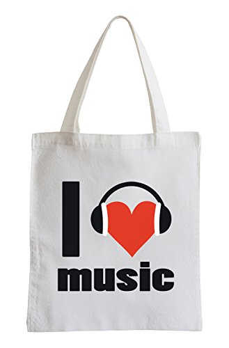 I love music Fun Jutebeutel