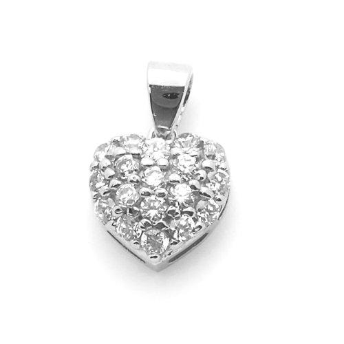 Petits Mrveilles D'amour - pendentif Religieux - Or Blanc 585/1000 (14ct) - Oxyde de Zirconium