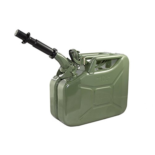 10 Liter (Olive Drab) Steel Wavian Jerry Can (Spout Included) by Wavian