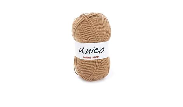 Katia Unico - Lanas Stop - Color: Camel (8) - 100 g/aprox. 266 m de lana.: Amazon.es: Hogar