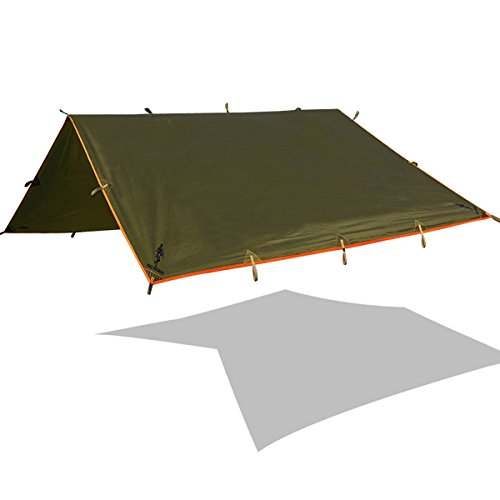 FREE SOLDIER Lightweight Waterproof Tarp Sunshade Tent Hammocks Camping and Backpacking Tarp Shelter