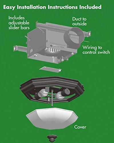 Hunter 82023 ventilation belle meade bathroom exhaust fan - Bathroom exhaust fan installation cost ...
