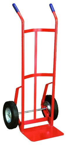 Wesco Industrial Products 210026 136-Z Steel Two Hand Truck, 700 lb. Capacity, 22.5'' Width x 48'' Height x 18.5'' Depth