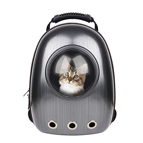 RCruning-EU-Pet-Carrier-Capsule-Portable-Bubble-Carrier-Waterproof-Transparent-Breathable-Space-Capsule-Backpack-For-Dog-Cat-Puppy-Animals-Outdoor-Travel-Walking-Black