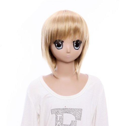 14 ''inch Cute Hetalia Blond Liechtenstein Short Bob Golden Cosplay (Liechtenstein Cosplay Costume)