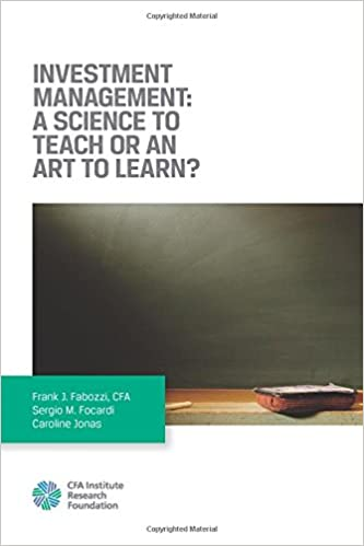 Book Investment Management: A Science to Teach or an Art to Learn?