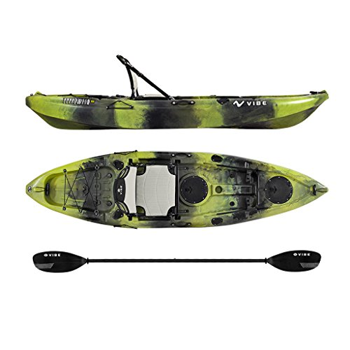 Vibe Kayaks Yellowfin 100 10 foot Angler Sit On Top Kayak with Paddle and