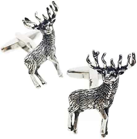 d42fbcf4fe57 Cuff-Arts Stags Cuff Links Deer Shooting Hunting Stag Cuff Link Animal  Cufflinks with a
