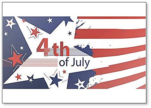 4th of July, Independence Day Poster Illustration Classic Fridge Magnet