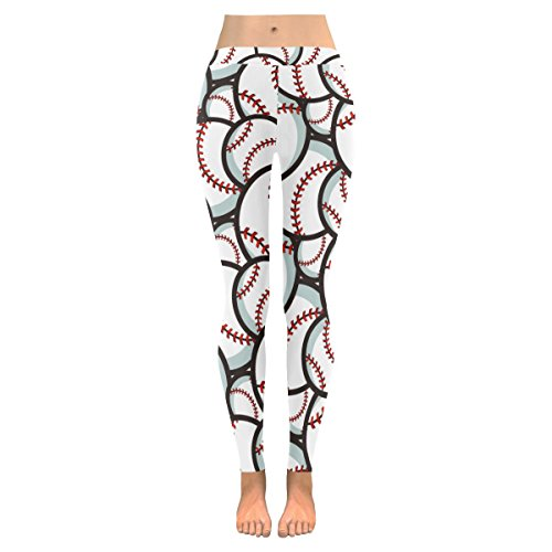 InterestPrint Baseball Sport Custom Stretchy Leggings Skinny Pants For Yoya Running Pilates Gym XL]()