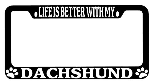 daschund license plate frame - 2