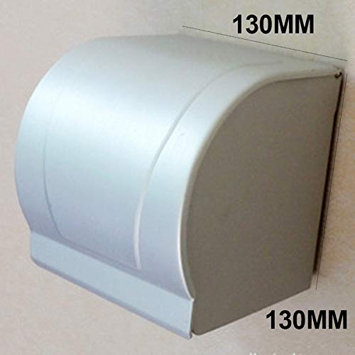 Tuersuer Easy to Assemble Aluminum Postbox Type Toilet Paper Roll Shelf Holder Case with Cover Roll Tissue Box,5# by Tuersuer