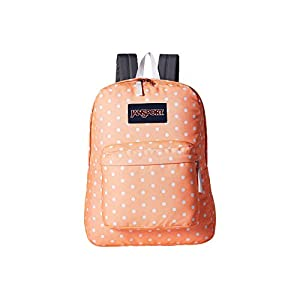 JanSport Unisex SuperBreak Coral Peaches/White Dots Backpack