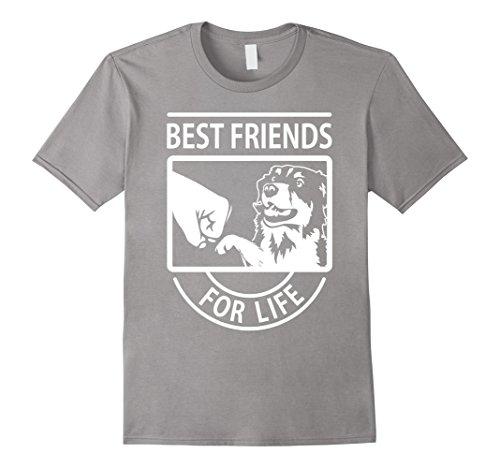 Men's Australian Shepherd - Best Friend For Life T-shirt Medium Slate
