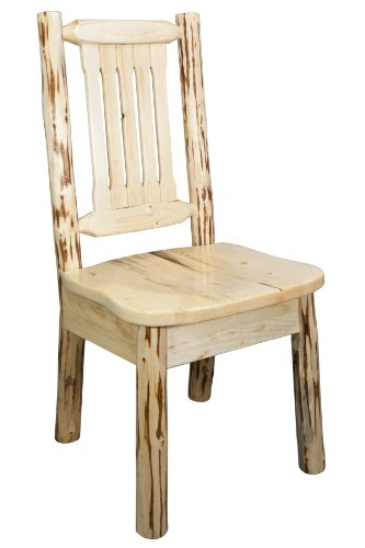Montana Woodworks MWKSCNV Montana Collection Dining Side Chair with Ergonomic Wooden Seat, Clear Lacquer Finish