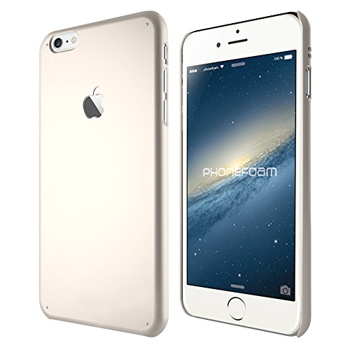 Iphone 6 Plus Case (5.5) Phonefoam® Sugar Series [Super Slim Thin Fit] [Pastel Soft Color] Simple Hard Case - Retail Packing for Apple Iphone 6 Plus (Champagne Gold)