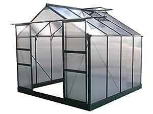 """Invernadero para jardín en policarbonato """"Dahlia"""" color verde pino 6,15 m²"""
