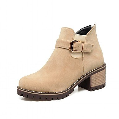 Round Chunky Spring Buckle EU36 Women'S Office Boots Heel amp;Amp; For Casual Leatherette UK4 Ankle US6 CN36 Toe Winter Boots RTRY Boots Shoes Career Booties Fashion 8vtqwxqZ