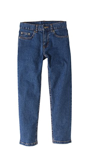 (Faded Glory Boys' Straight Denim Blue Jeans (6, Light Wash))