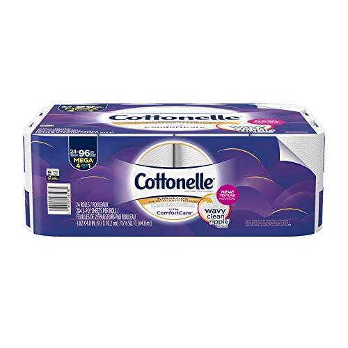 Cottonelle Ultra Comfortcare Toilet Paper, Soft Biodegradable Bath Tissue, Septic-Safe, 284 Count