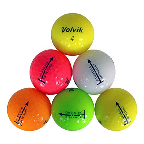 36 Official Volvik Crystals AAAAA Used Golf Balls Color Variety