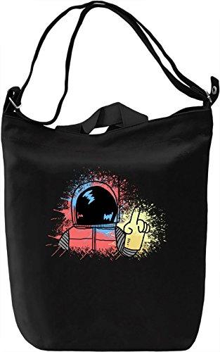 Colourful Cosmonaut Borsa Giornaliera Canvas Canvas Day Bag| 100% Premium Cotton Canvas| DTG Printing|