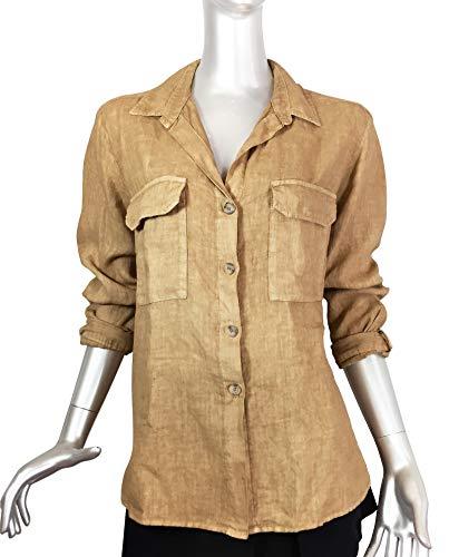 In Lino 240 8246 1q716wzx Camicia Donna Zara Tasche Bone 17qwdTn