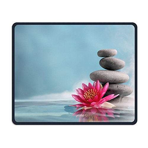 Price comparison product image Perfect Gift: Non-Slip Rubber Comfortable Mouse Pads Asian Zen Garden Lotus Stone Smell Zen Mouse Mat Personality Desings Gaming Mouse Pad Style 11.8 9.8 Inches