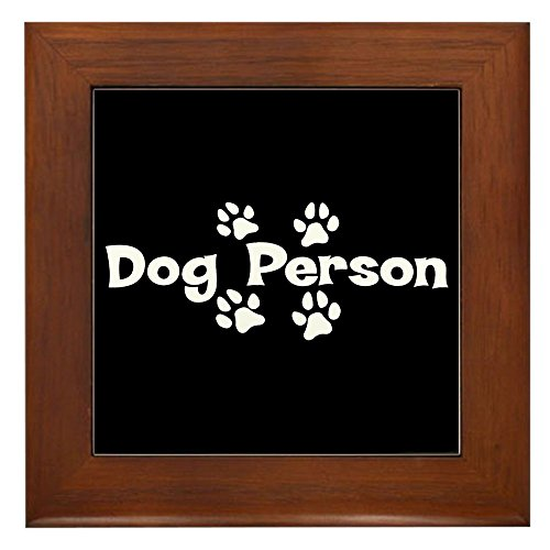 (Framed Tile Dog Person)