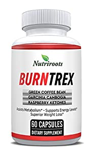 Burntrex - Thermogenic Weight Loss Pill - Lose Weight & Belly Fat With Natural Ingredients - Garcinia Cambogia, Raspberry Ketones, Green Coffee Bean & Green Tea
