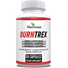 Burntrex - Thermogenic Weight Loss Pills - Lose Weight & Belly Fat With Natural Ingredients - Garcinia Cambogia, Raspberry Ketones, Green Coffee Bean & Green Tea