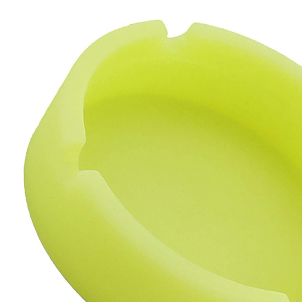 Camuflaje Luminoso Cenicero de Caucho de Silicona de Calor de Alta Temperatura Resistente tur/ística Boquilla Redonda Bandeja de Ceniza del Coche Regard
