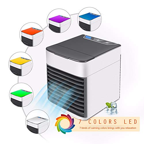 InverleeUSB Colorful Charging air Conditioner Mini Portable Refrigerator air Cooler Nano Fan and Replacement air Conditioner Filter -