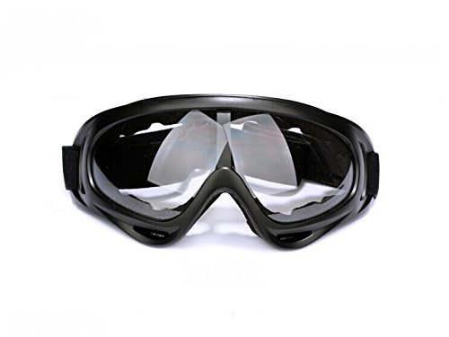 Folding Riding Goggles Motorcycle Glasses For Men Clear Transparent Kickback Foam Padded Glasses with Elastic Strap UV Protection Sunglasses Fit For Honda BROS (NT400J K K2 L L2) - K&l Sunglasses