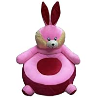 HOLME'S Cute Rabbit Shape Imported Premium Quality Soft Toy Chair/seat for Baby Sitting/Soft Toy Chair for Kids Birthday (Color- Pink, Size- 46cm)