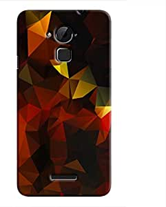 Cover It Up - Dark Orange Gold Pixel Coolpad Note 3 Hard Case