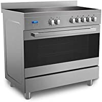 Midea 90 x 60 cm Ceramic Cooker with Schott Glass and Full Safety, Silver - VSVC96048, 1 Year Manufacturer Warranty