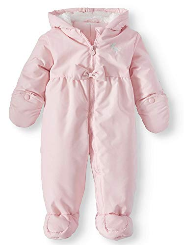 Carter's Child of Mine Baby Girls Hooded Puffer Pram Snowsuit, Pink, 3/6M