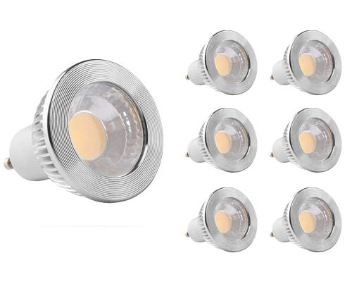 GOOLSUN 5-watt GU10 LED COB Flood Bulb, 3000K Soft White, Dimmable, 90° Beam Spread, 50-watt Equivalent, 500 lumens, CRI 80+, AC 120V, 2.4