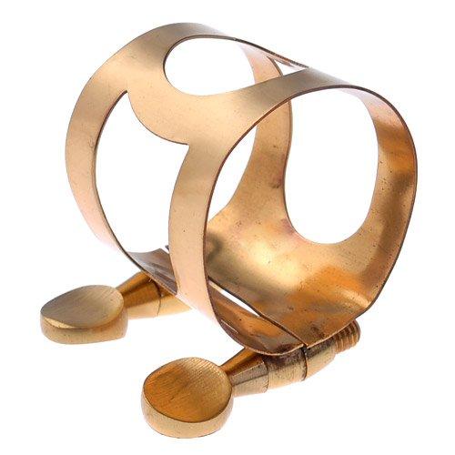 Kmise A1495 Alto Saxophone Ligature Lacquer Gold