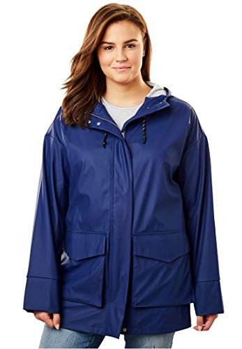 cd2349847c7 Women s Plus Size High-Low Slicker Raincoat