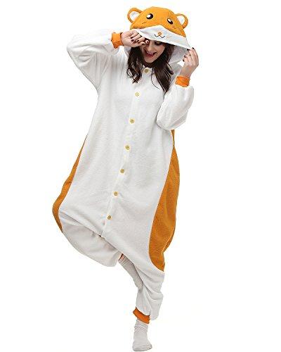 Oneises Women Men's Animal Hamster Onesie Halloween Costume Pajamas Partywear X-Large for $<!--$30.99-->