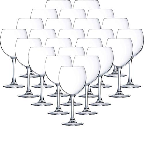 Circleware 05442/AM Red Wine Glasses, Huge Set of 24, Beverage Glassware Drinking Cups for Water, Beer, Liquor, Whiskey 20 oz 24pc-Twilight -