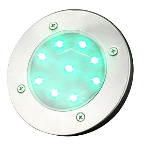 Solar Lawn Lamp 9 LED Outdoor Pin Lamp Buried Lamp Path Way Garden Decoration Light by Fovolat