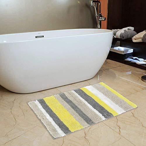 Standard Tonys Textiles Heavy Weight Chenille Soft Microstripe Teal Bath Mat Rug