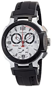 Tissot Men's T0484172703700 T-Race Quartz White Chronograph Dial Watch