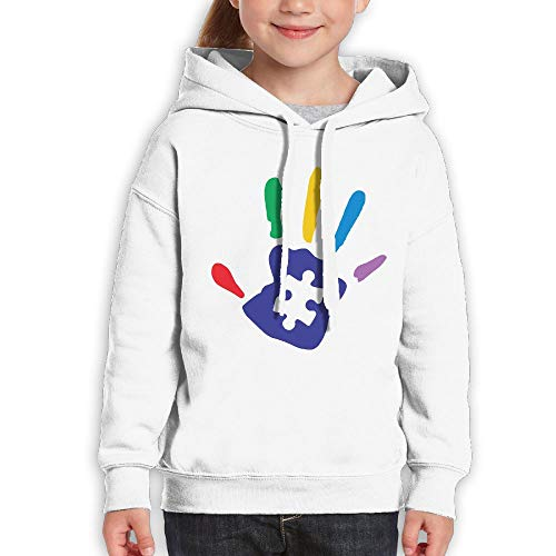 UGFGF-S2 Colorful Autism Hand Funny Print Youth Boys