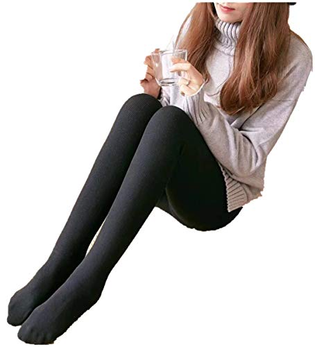 - Cable Cotton Control Top Tight,Womens Winter Hosiery-Skinny Opaque Warm Tights Cotton Black Pantyhose (ONE, Black)