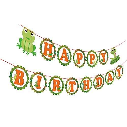 - Gyzone Reptile Snake Garland Birthday Banner, Reptile Party Decorations Supplies